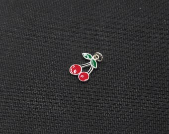 Sterling Silver Cherry Pendants -- 925 Silver Charms Wholesale For Bridesmaid Gift Party XXSP-S0683