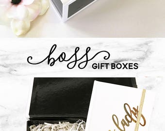 Boss Gift Basket Boss Christmas Gift Basket Boss Gift Box Boss Lady Gift - FILL On YOUR OWN (EB3193HLD) Personalized Empty Box