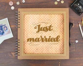 Wedding album - Kraft square scrapbook for your marriage memories