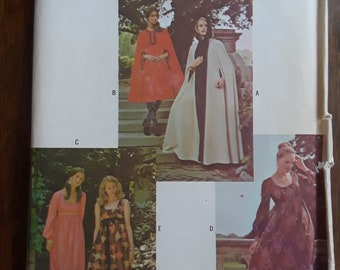 RARE REDBOOK Vintage Patterns RB1900 Sz 12 Cape and Dress Pattern