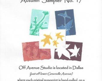 Autumn Monoprints Set of 5 Notecards No.17