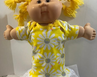 "Cabbage Patch KIDS 16 inch Doll Clothes, Pretty Big ""WHITE DAISY"" Nightgown with Lace, 16 inch Cabbage Patch, Fits 15 inch Bitty Baby"