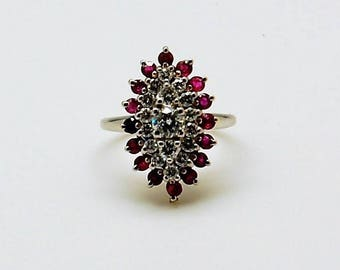 Diamond and Ruby Vintage Ring