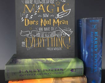 Just Because You're Allowed to Use Magic Now Does Not Mean You Have to Whip Out Your Wands for Everything! Canvas Wall Art - Molly Weasley