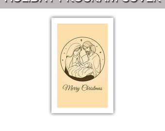 "Merry Christmas with Nativity program cover 8.5""x11"""
