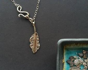 Sterling Silver 925 Leaf Necklace