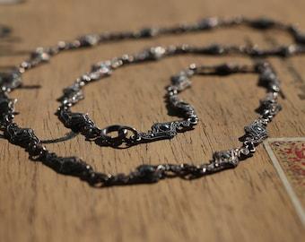 vintage Art deco era: antique necklace with marcasites, handcrafted