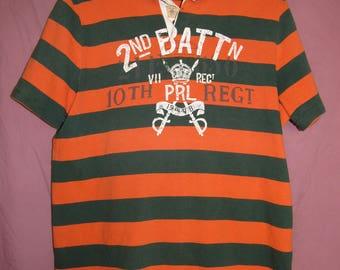 PRL Ralph Lauren POLO Stripey Green/Orange/Light Brown