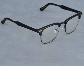 Faux Eyeglasses with Black Detail