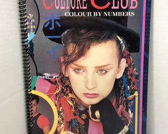 Culture Club Album Cover Notebook Spiral Journal Handmade - Boy George