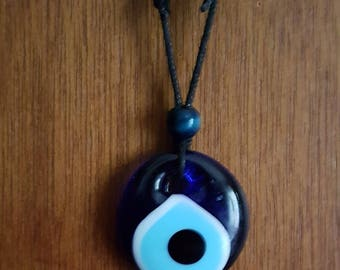 Grecian Glass Evil Eye Protection  Pendant