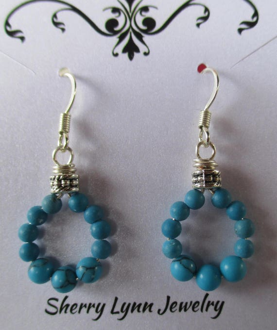 Howlite Hoop Earrings E1025171