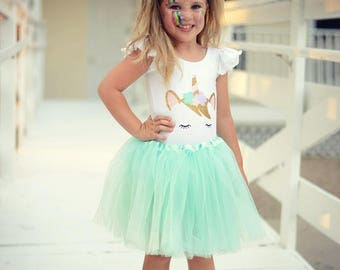 Toddler Unicorn Costume , Baby Unicorn Outfit , Unicorn Halloween Costume ,  Pastel Unicorn Tutu Costume , Girls Pastel Unicorn Costumes