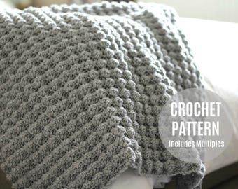 CROCHET AFGHAN PATTERN, Crochet Pattern, Crochet Blanket Pattern, Crochet Afghan, Baby Blanket Pattern, Crochet Blanket, Baby Blanket