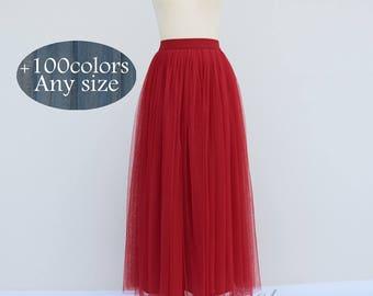 Summer maxi tulle skirt, wedding party adult tutu