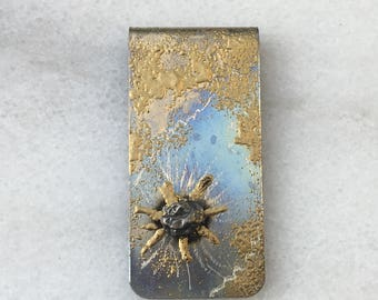 Science money clips | geek dad gift ideas | Money Clip | Meteorite | Science Gift | Cool Guys Gift | 6th Anniversary | Gift For Men