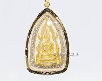 Thai Buddha Amulet Pendant Phar Puttachinnaraj, good luck,Fortunately.(No.5)