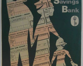 Original 1960s National Savings Bank Poster by Stan Krol