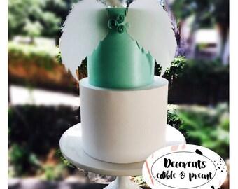 Angel wings, cake wings, unicorn wings, edible image, baptism cake ,precut & edible