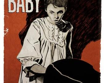 Roman Polanski ROSEMARY'S BABY horror movie poster full colour art print
