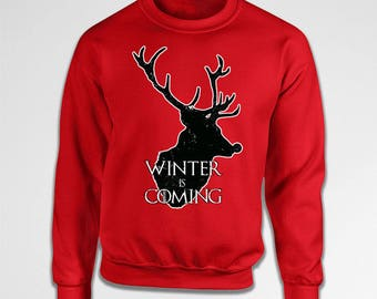 Winter Is Coming Sweater Christmas Gift Ideas Holiday Hoodie Xmas Jumper Christmas Present Holiday Pullover Xmas Clothing X-mas Tiki-30