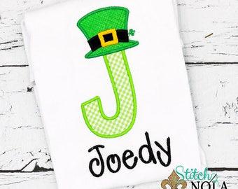 St Patrick's Day, St Patricks Day Applique, Toddler St Patricks Day Shirt, Lucky Alpha, St Pattys Day, Lepechaun,