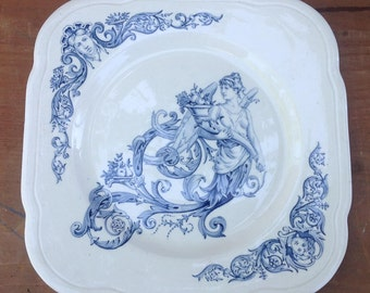 Vintage ironstone Clairefontaine plate