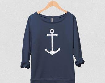 Anchor Shirt | Anchor Pullover, Nautical Shirt, Anchor, Womens Pullover