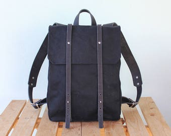 Womens canvas backpack/ Leather backpack/ Waterproof canvas backpack/ Laptop backpack/ Unisex backpack/ Canvas bag/ Phestyn backpack