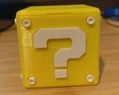 Nintendo Switch Question Block Game & SD Card Case | Video Game | Retro Gaming | Mario | Zelda | 3D Printed |