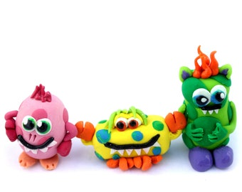 Three Little Polka-dotted Monsters