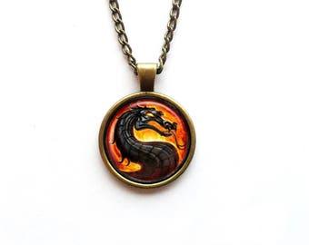 Necklace Mortal Kombat Logo