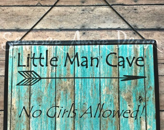 Nursery Decor Boy, Little Man Cave Sign, Little Man Cave, Boy Cave, Rustic Nursery Decor, No Girls Allowed, Little Man Decor, Boy Room Decor