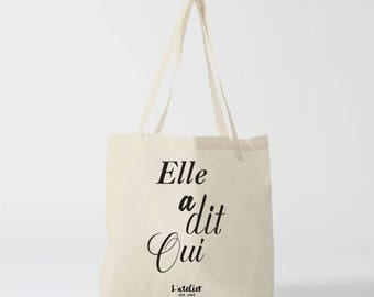 X472Y bag she said yes, tote bag wedding, travel bag, cotton, Christmas tote bag, tote bag-school tote bag custom bag and Tote