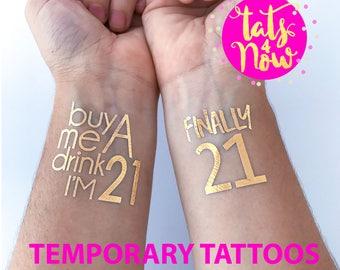 21st birthday party tattoo, finally 21, buy me a drink I'm 21, twenty one, finally legal, 21st birthday gift for her, birthday gift for her