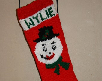 Hand-knit personalized Christmas Stocking
