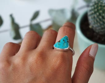 Size 8 1/2 Kingman Turquoise Sterling Silver Ring