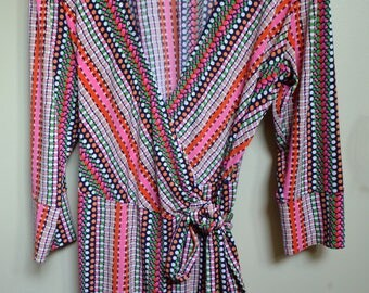 70s Style Colorful Dress