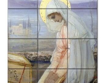 Catholic wall art - Virgin Mary - mosaic - religious craft - catholic craft - Blessed Mary - Virgin Mary art - Virgin Mary wall art