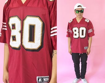 Jerry Rice jersey size large vintage san francisco 49ers red jersey made in the usa starter