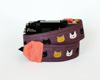 Cat camera strap, SLR DSLR camera strap, photographer gift, cute camera strap, canon camera strap