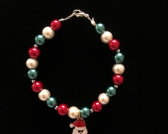 Christmas Bracelets - The perfect and affordable Christmas Gift (different models) Unique, handmade, made of beads. (Santa Claus)