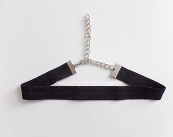 Classy Black Choker, Ribbon Choker, Stretch Choker, Choker Necklace, Handmade Choker, Women Black Choker, Choker, Popular Necklace