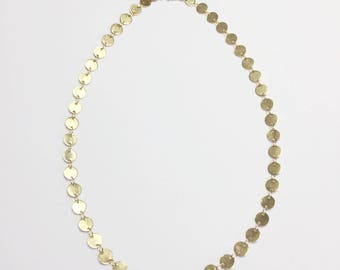 Medallion Choker Necklace - gold