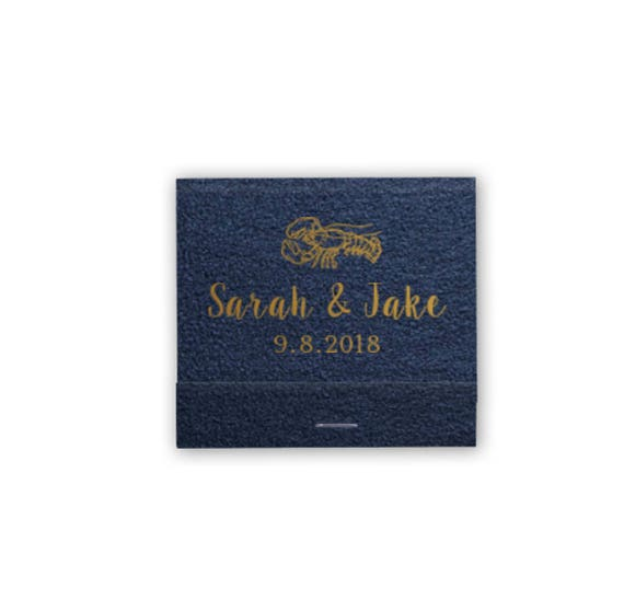 Lobster matches, wedding matches, reception matches, personalized matches, matchbook party favor, new England wedding, nautical wedding