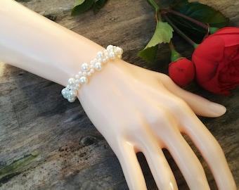 Bridal Bracelet with Swarovski Pearls