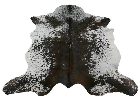 Chocolate Speckled Cowhide Rug by Cowhidesusa