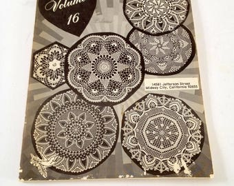 vintage Doily Pattern Book, 1974, Crochet Patterns