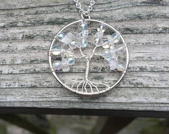 Tree of Life Necklace- quartz winter