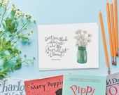daisies you've got mail greeting card // fall greeting card // greeting card friend // hand lettered greeting card // greeting card for her